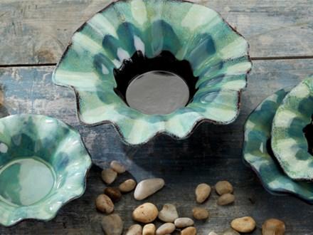 Ruffle Bowl Pottery Glaze Class