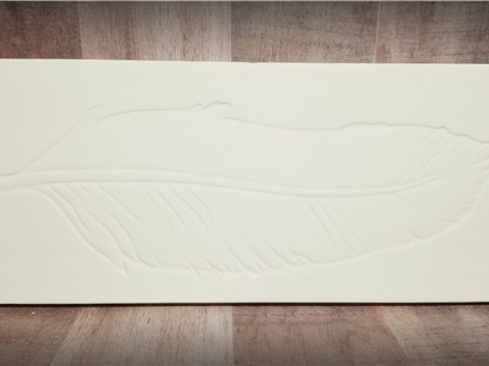 ONE LEFT! Feather Plaque - Ready to Paint