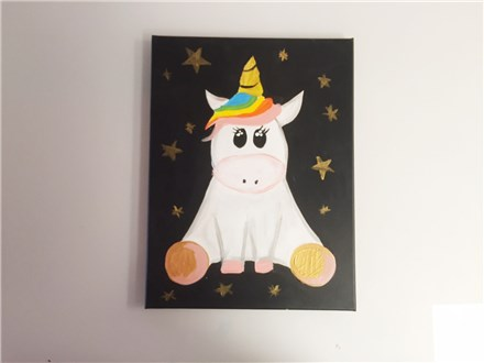 Magical Unicorn (kids ages 6+) Canvas