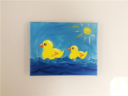 Rubber Ducks (mommy/daddy and me ages 4+) Canvas Class