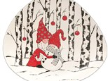 Hugging Snowman Plate IN Studio or Virtual Class! December 3rd
