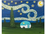 Starry Night Camping *choice colors for the camper