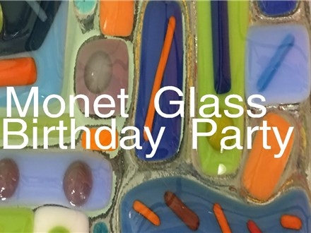 Monet Fused Glass Birthday Party
