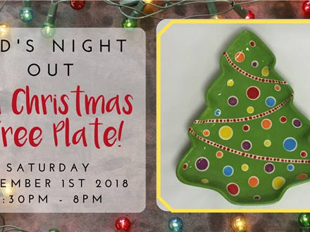 Kid's Night Out: Oh Christmas Tree Plate!