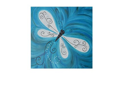 Dragonfly Drifting By - Senior Citizen Canvas