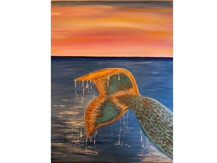 Canvas & Wine Night! Mermaid Tail! 2/19/19