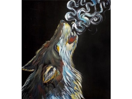 Howling Wolf - Canvas - Paint and Sip