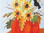 Elements of Autumn Canvas Class at CozyMelts