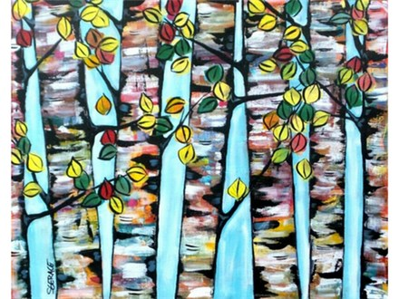 Abstract Trees - 16x20 canvas