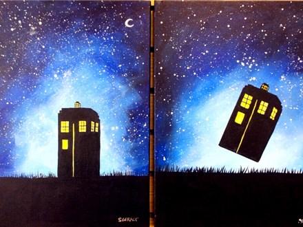 Choice design for Tardis 12x16 canvas