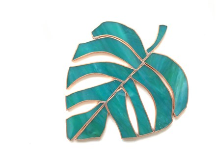 DIY Stained Glass Tropical Leaf