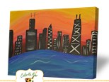 Summer Camp Monday, July 23rd Chicago Skyline Sunset Canvas