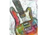 Guitar Choice-stencil provided - 16x20 canvas