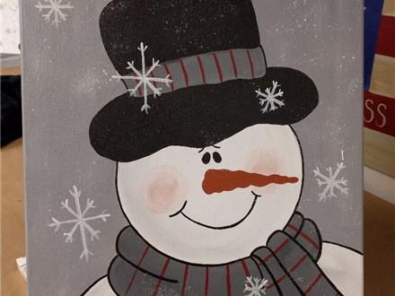 Snowman Paint Class w/Toni $35 12/1 6-9PM