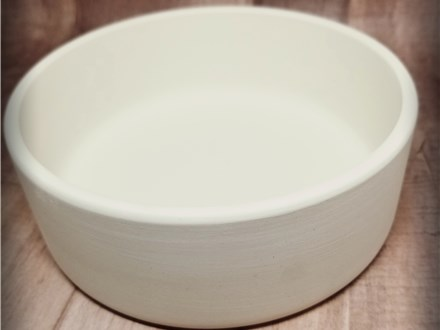 ONE LEFT! Modern Cat Food Bowl - Ready to Paint