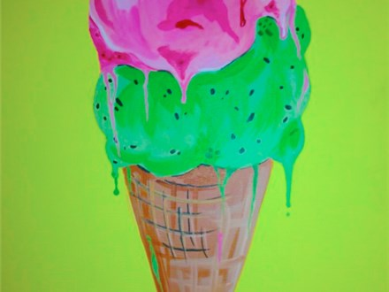 "Kids Night Out Canvas Night! ""Ice Cream Cone"" Friday, August 18th 6-8pm"