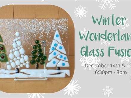 Winter Wonderland Glass Fusion Scene