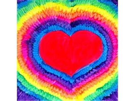 """Canvas & Cones """"Tye Dye Heart"""""""
