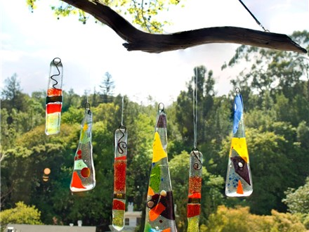 Adult Fused Glass Windchime Class 7/12 5pm