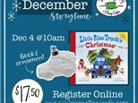 Holiday story time and pottery project Sat. Dec 4th