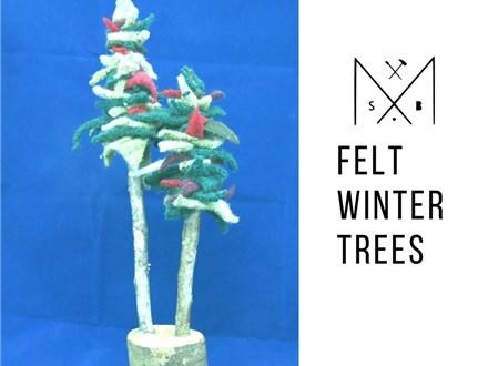 Felt Winter Trees