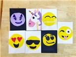Summer Camp Thursday, June 28th Set of 4 Emoji Canvases