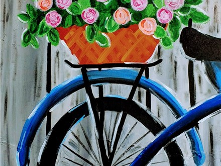 """""""Bicycle Basket"""" Canvas Class, July 6th"""