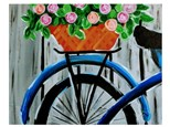 """Bicycle Basket"" Canvas Class, March 8th"