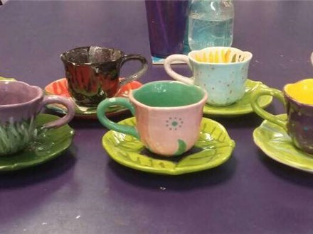 Tea Cup Mommy & Me Painting To Go Kit