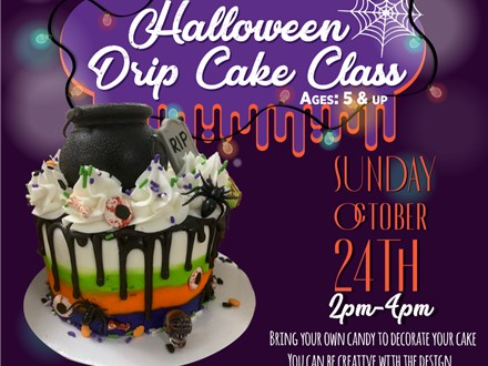 Parent Child Halloween Drip Cake Class (October 24th)