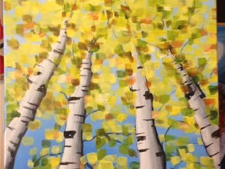"Sip-N-Paint ""Birch Trees"" (Thurs. 9/24)"