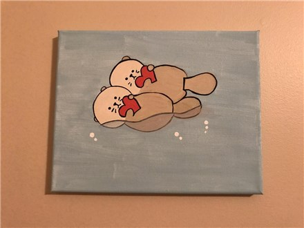 I Love You Like No Otter Mommy & Me Canvas Class (Age 4 and Up) $40