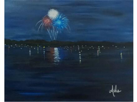 Lake Celebration 16x20 canvas