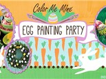 Egg Painting Party at Color Me Mine!