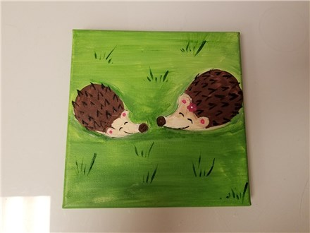 Hedgie Homies Mommy & Me Canvas Class (age 4 and up) $40