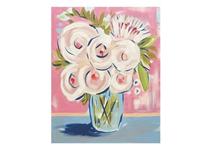 Abstract Peonies - Canvas - Paint and Sip