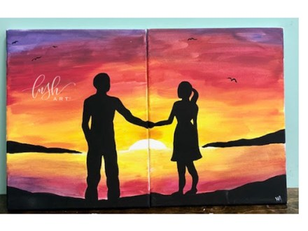 Sunset Couple Paint Class