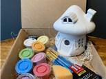 PoGo Kits: Paint Your Own Pottery ToGo! (Mushroom Hut Lantern)