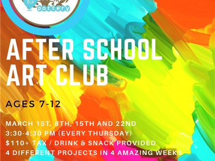 After School Art Club For Kids!
