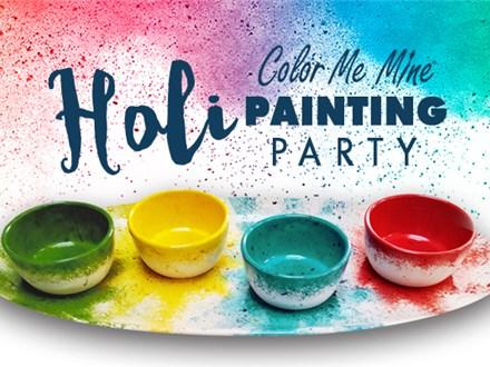 Mar 9th • Holi Splatter Platters • Color Me Mine Aurora