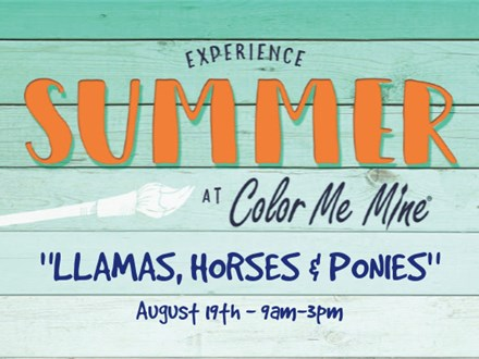 Llamas, Horses & Ponies...Oh My! - August 19th