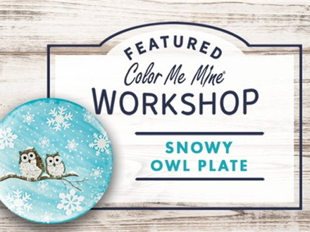 """""""Owl Plate"""" Tween Class ( Sun, Nov 17th from 3-5pm)at Color Me Mine - Aspen"""