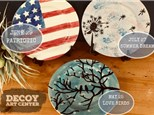 Canvas Painting Night - with Pottery Plate Options