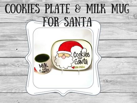 Ceramic - Milk & Cookies for Santa