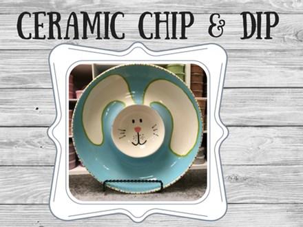 Ceramic - Bunny Chip and Dip