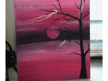 Moonlit Halloween - Canvas Painting