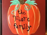 "Daytime Canvas ""Family Pumpkin"" Sunday, November 6th 11am-1pm"