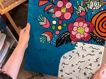 Adult Canvas - 80s Bouquet - 03.21.19