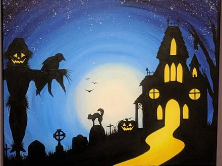 Spooky Canvas Class