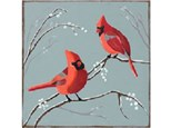 Canvas & Wine Night! Cardinals and Berries! 12/28/18